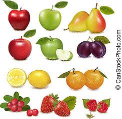 big, skupina, o, neobvyklý, fruit.