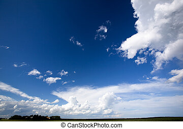 Big Sky Background - A landscape with a big sky with clouds