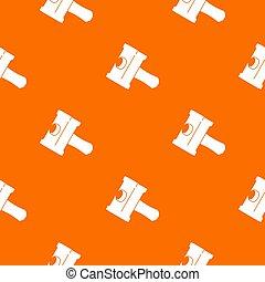 Big sledgehammer pattern orange