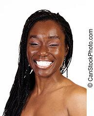 Big Smile Portrait Attractive African American Woman