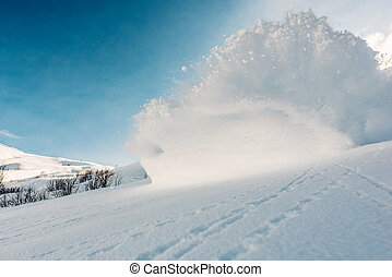 Big snow explosion