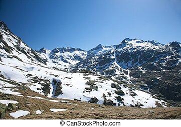 big snow valley at gredos