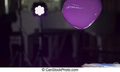 Big soap bubble slow motion