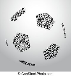 big soccer ball made from small soccer balls