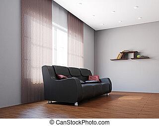 Big sofa in the livingroom