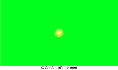 Big spark burst on green screen
