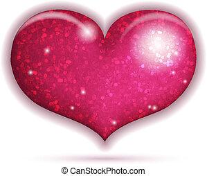 Big sparkling heart