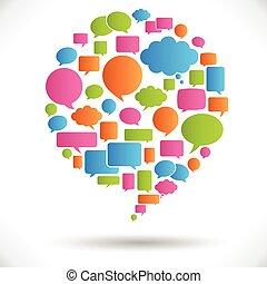 Big Speech Bubble - Big, round speech bubble made of many...