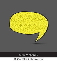 Big speech bubble. Hand drawn. Eps10