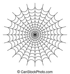 Big spider web. Picture can be used as background