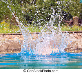 Big Splash - This is a stop action shot of a big splash in a...