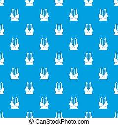 Big sports bra pattern seamless blue