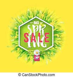 Big spring sale banner
