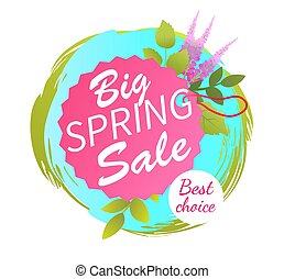 Big Spring Sale Best Advertisement Label Lavender