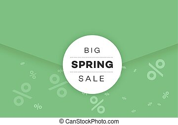 Big Spring Sale Promotional Envelope, Email Design Template