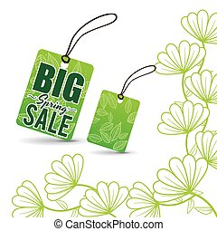 big spring sale tag price flowers