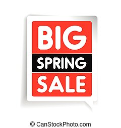 Big spring sale vector