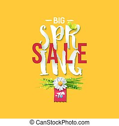 Big Spring sale yellow label