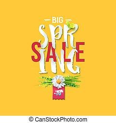 Big Spring sale yellow label