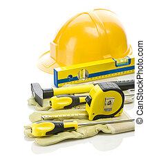 big stack of building tools