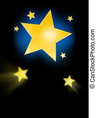 Big Star Background - Artistic background featuring big...