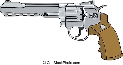 Big steel revolver