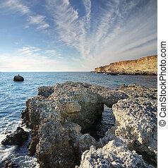 Big stone on the sea shore