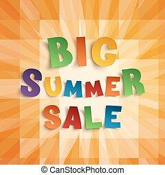 Big summer sale background.
