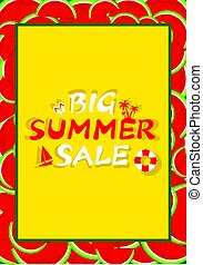 Big summer sale banner
