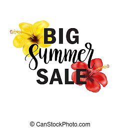 Big Summer Sale lettering quote. Banner, poster, web and print design.