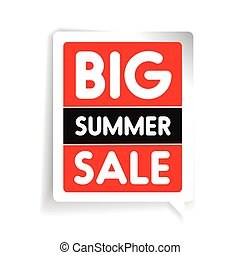 Big summer sale vector