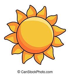 big sun cartoon