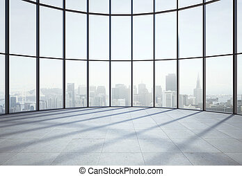 big sunlight hall and window