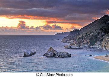 Big Sur Coastline - Coastline near Big Sur, California