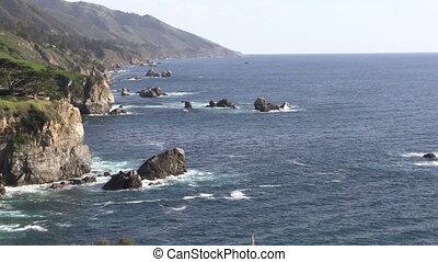 Big Sur Coastline - the rugged scenic big sur California...