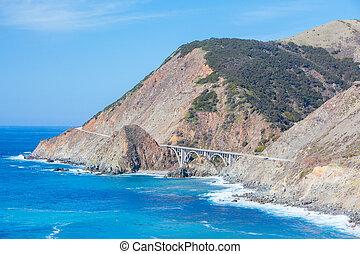 Big Sur Coastline View in California USA
