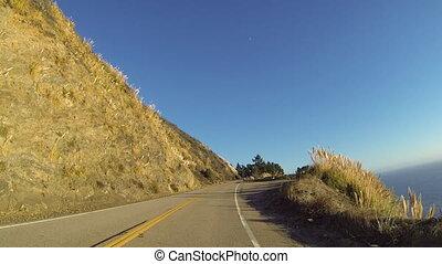 Big Sur Golden Hour - Driving through Big Sur on the...