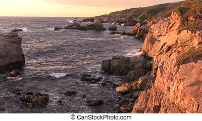 Big Sur Sunset - the rugged big sur California coast at...