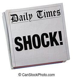 Big Surprise Newspaper Headline Huge Shock 3d Illustration