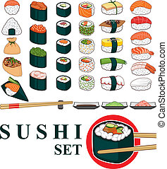 Big Sushi Set - Great set of various different types of...