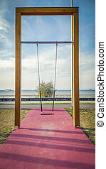 Big swing with view to the sea