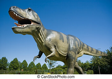 Big T-Rex in a Park