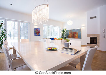 Big table in living room