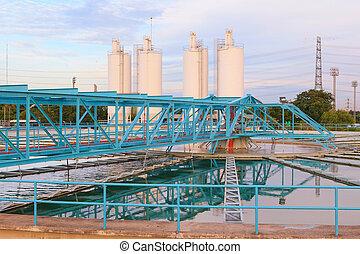 big tank of water supply in metropolitan waterwork s...