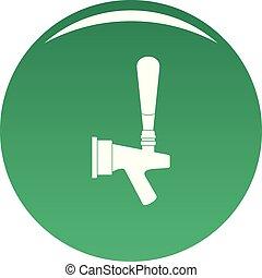Big tap icon vector green