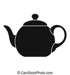 Big teapot icon, simple style