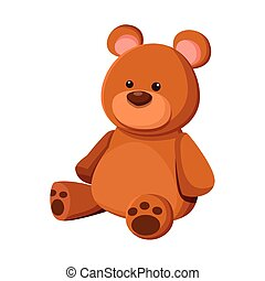 big teddy bear icon, colorful design