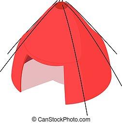 Big tent icon, isometric 3d style