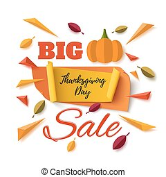Big Thanksgiving Day sale abstract banner.