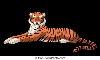 Big Tiger Lies and Growls Alpha Matte - Big Tiger Lies and...